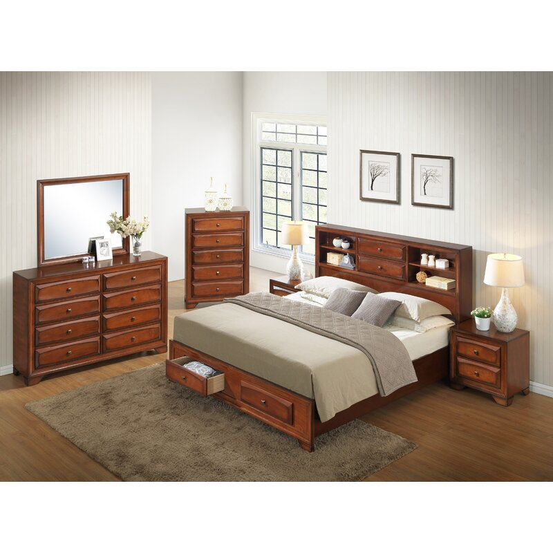 Porter 5 Piece Bedroom Set: Winston Porter Beagan Queen Platform Solid Wood 5 Piece
