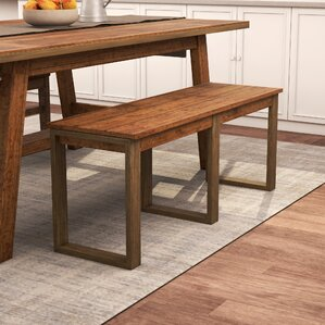 Desjardins Wood Bench by Laurel Foundry Modern Farmhouse
