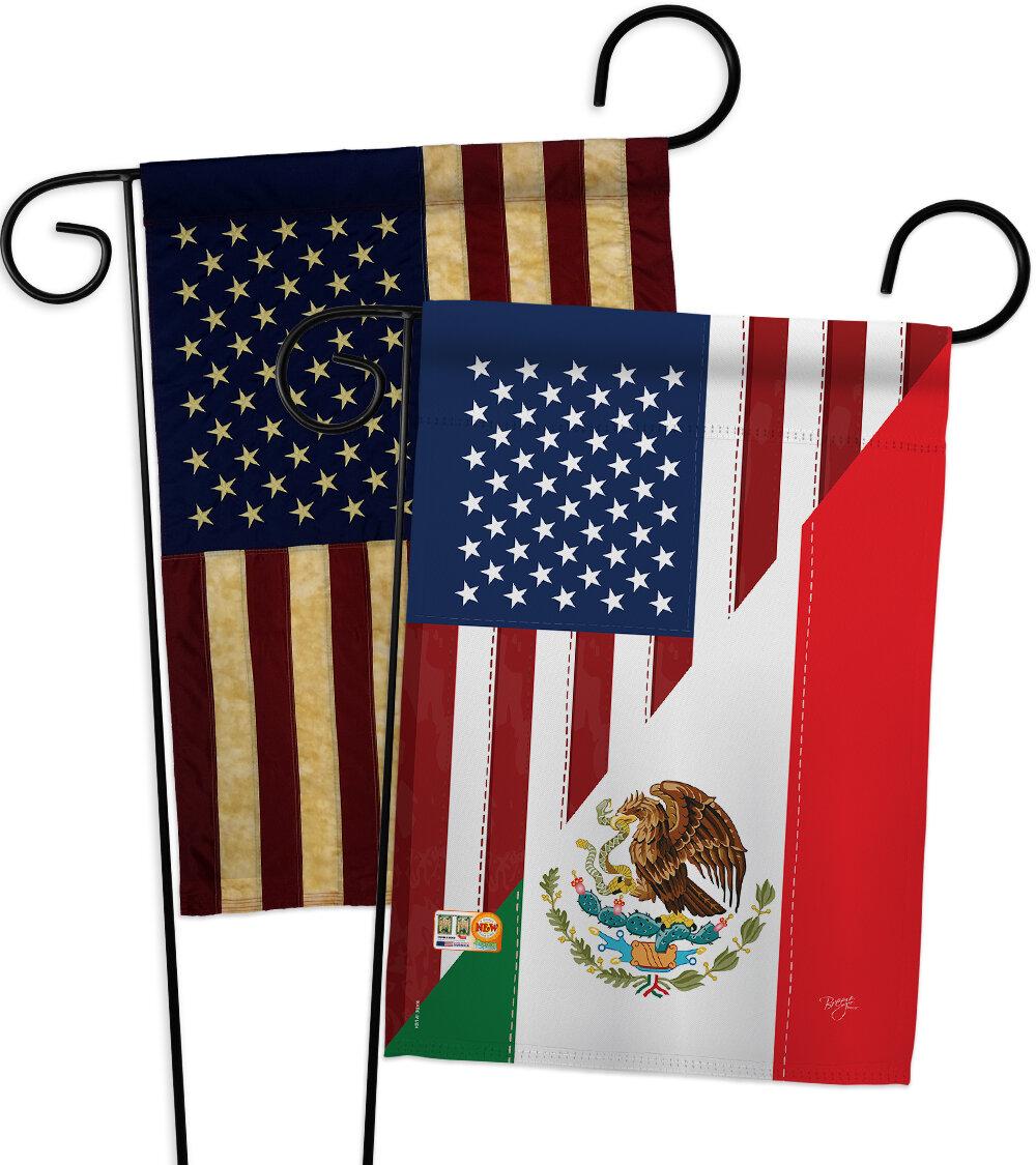 Breeze Decor American Mexico Friendship Impressions Decorative 2 Sided Polyester 19 X 13 In 2 Piece Garden Flag Set Wayfair