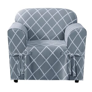Lattice Box Cushion Armchair Slipcover