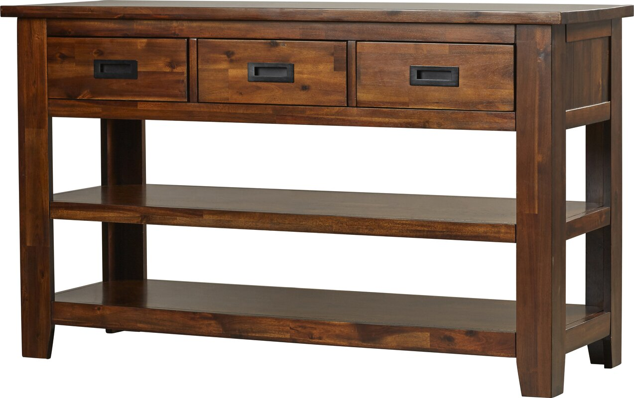 Walnut console sofa tables youll love wayfair oilton console table geotapseo Gallery