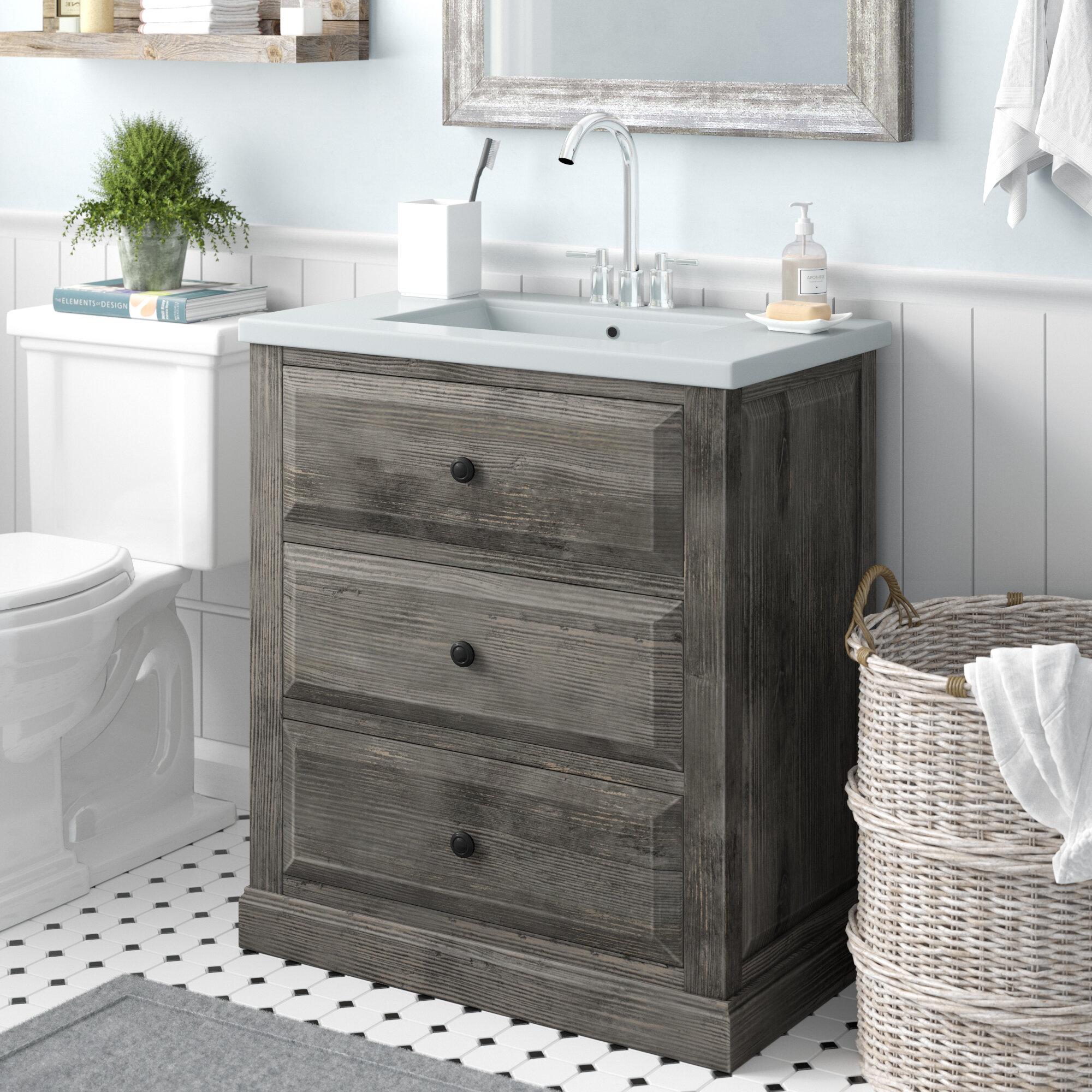 Gracie Oaks Aalisha 30 Single Sink Bathroom Vanity Set Reviews Wayfair