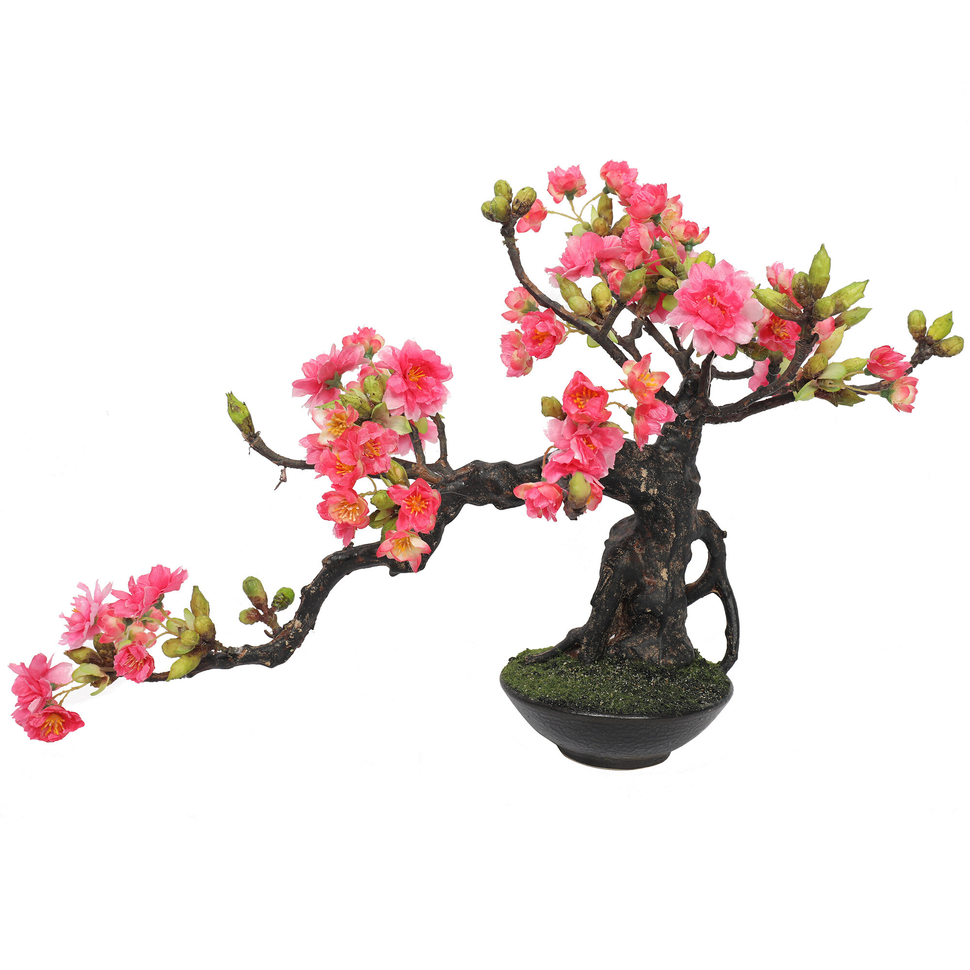 Bloomsbury Market 9 Artificial Flowering Cherry Blossom Bonsai Tree In Pot Reviews Wayfair