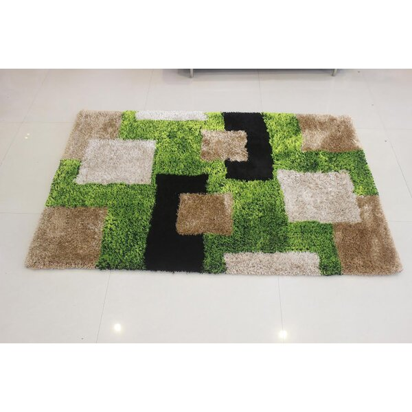 Ivy Bronx Joziah Hand Tufted Green Beige Area Rug Wayfair