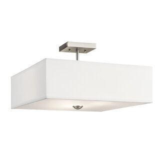 Latitude Run Holloway 3-Light Semi Flush Mount