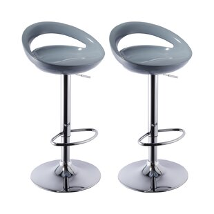 Lakisha Height Adjustable Bar Stool (Set Of 2) By Zipcode Design
