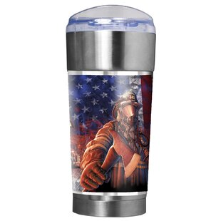 Firefighters Backbone of America 24 oz. Stainless Steel Travel Tumbler