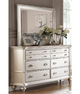 Tiya 6 Drawer Double Dresser with Mirror