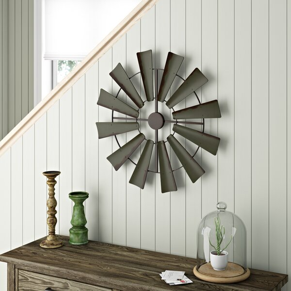 Gracie Oaks Full Windmill Rustic Farmhouse Wall D 233 Cor