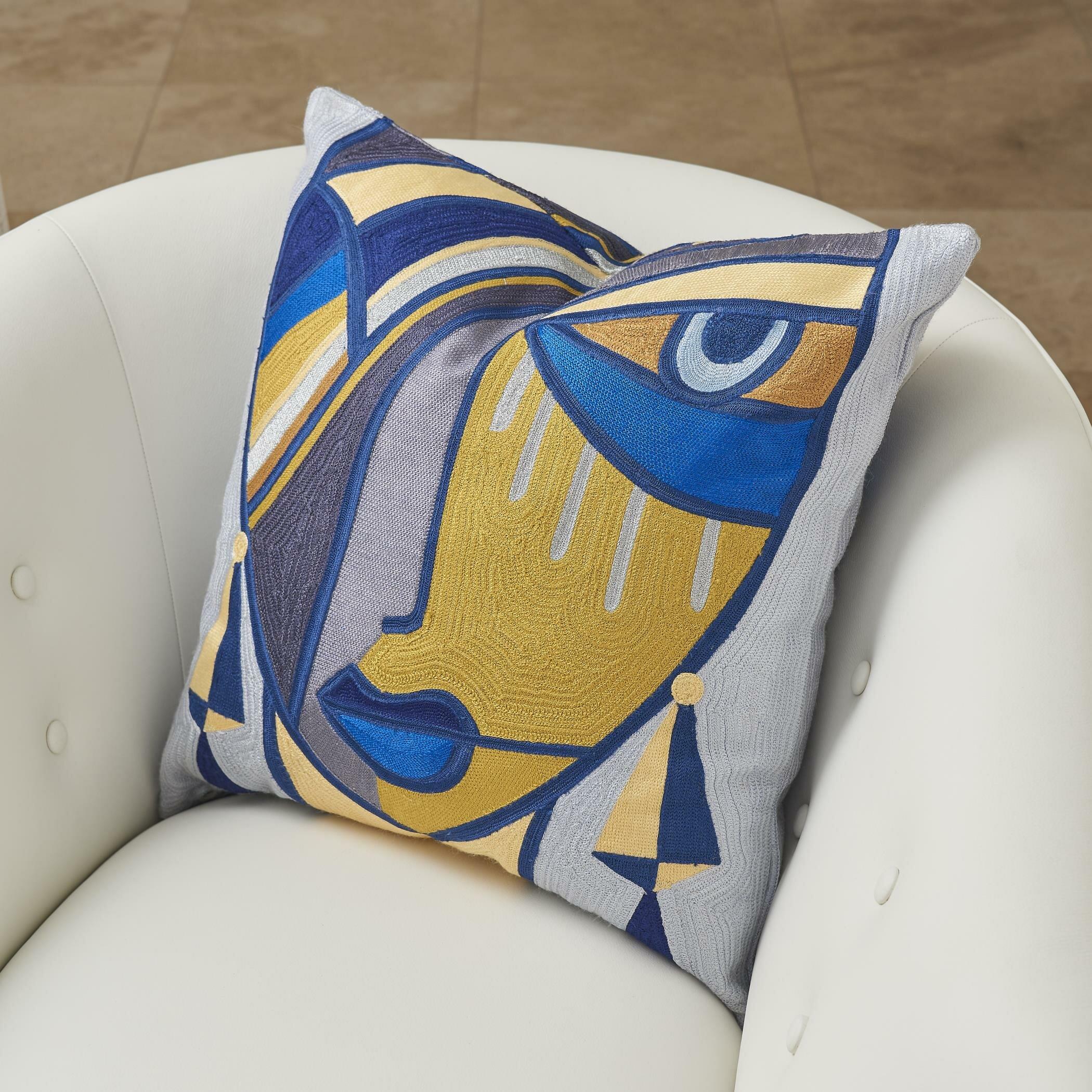 Maya Cotton Throw Pillow