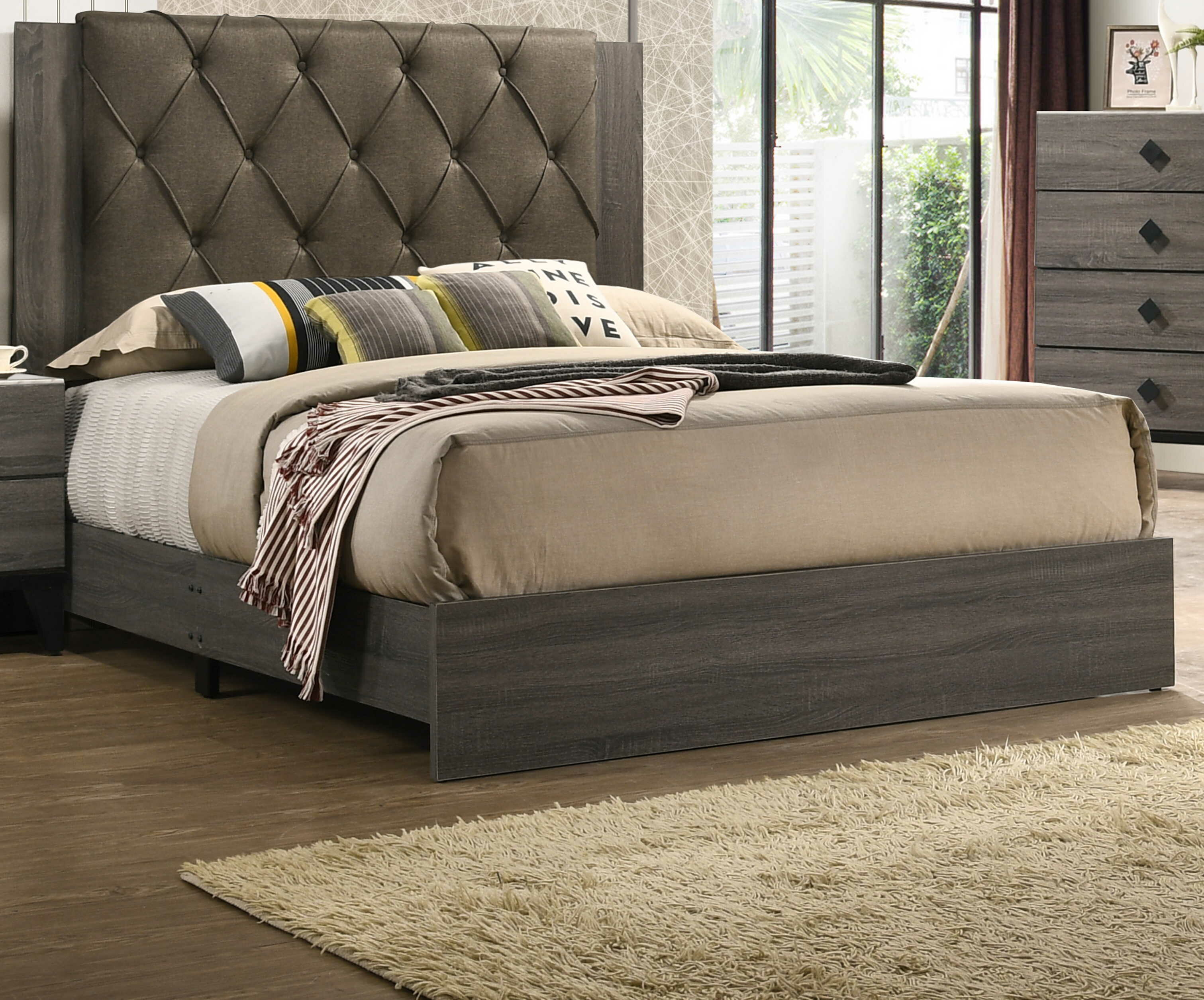 Cozzy Design Junayd Tufted Standard Bed Wayfair