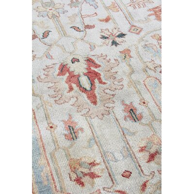 Serapi Hand Knotted Wool Ivorylight Blue Area Rug Exquisite Rugs