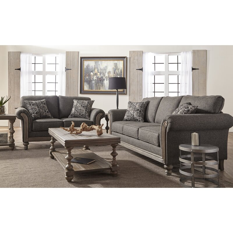 alcott hill hubbert contemporary textured fabric wood frame leather