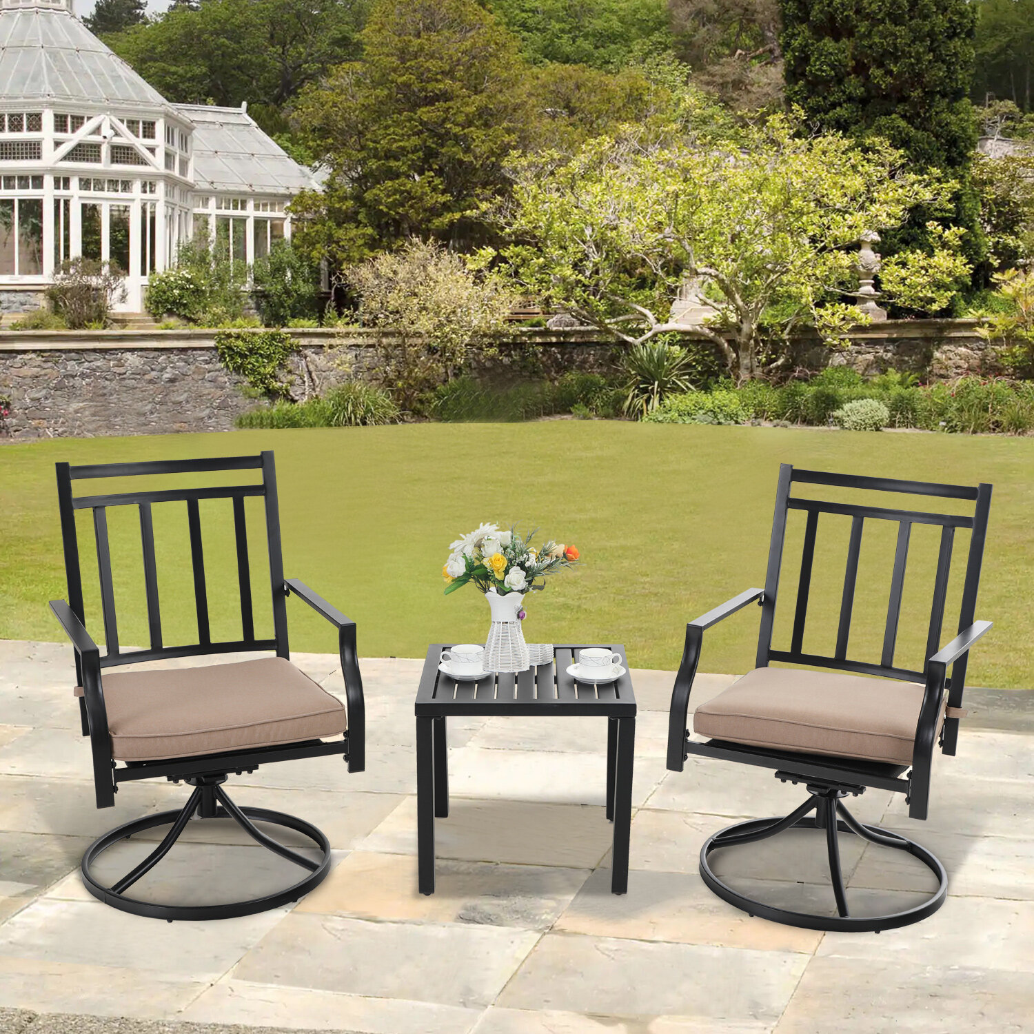 Bistro Teak Finish Patio Dining Sets You Ll Love In 2021 Wayfair