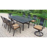Zulema 9 Piece Dining Set with Cushions