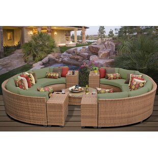 Rosecliff Heights East Village 11 Piece Sectional Set with Cushions