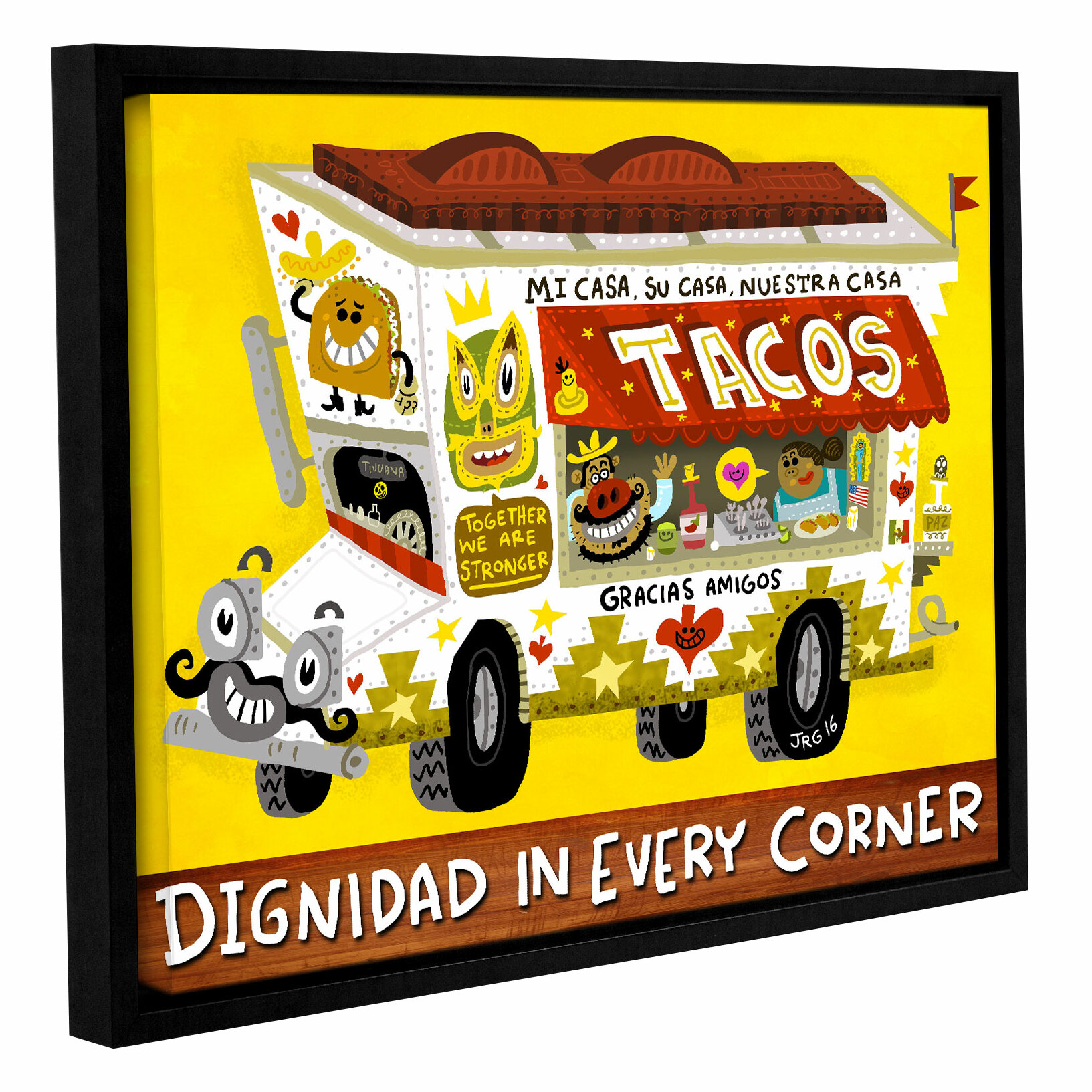 East Urban Home \'Taco Truck\' Framed Graphic Art Print on Canvas ...