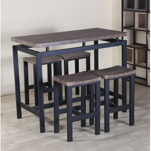 Hearn 5 Piece Pub Table Set By Borough Wharf