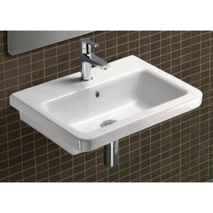 GSI Collection City Ceramic Rectangular Drop-In Bathroom Sink with Overflow