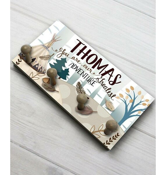 Toad And Lily Adventure Personalized Wall Mounted Coat Rack Wayfair