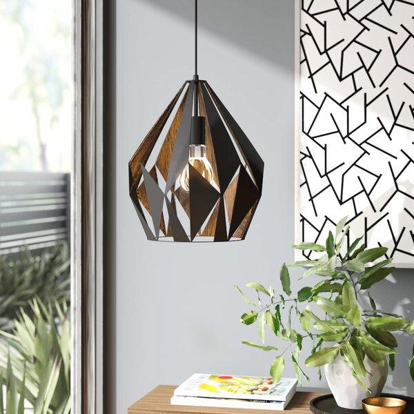 Anthony 1 Light Single Geometric Pendant Reviews Allmodern