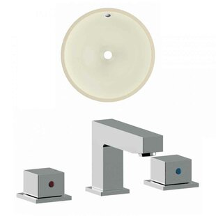 Price comparison Ceramic Circular Undermount Bathroom Sink with Faucet and Overflow ByRoyal Purple Bath Kitchen
