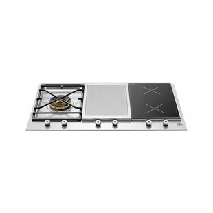 Pro Series 35'' Induction and Gas Cooktop with 4 Burner