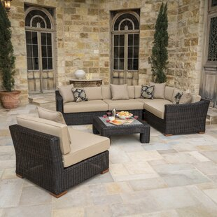 Darby Home Co Monroeville 6 piece Sunbrella Sectional Set with Cushions