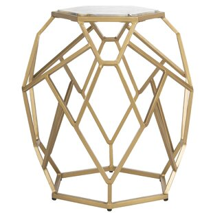 Top Reviews Healy Geometric End Table by Mercer41