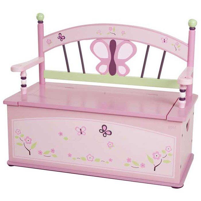 Wildkin Kids Sugar Plum Bench Seat with Storage