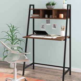 Faulk Solid Wood Ladder Desk With Hutch by Wrought Studio