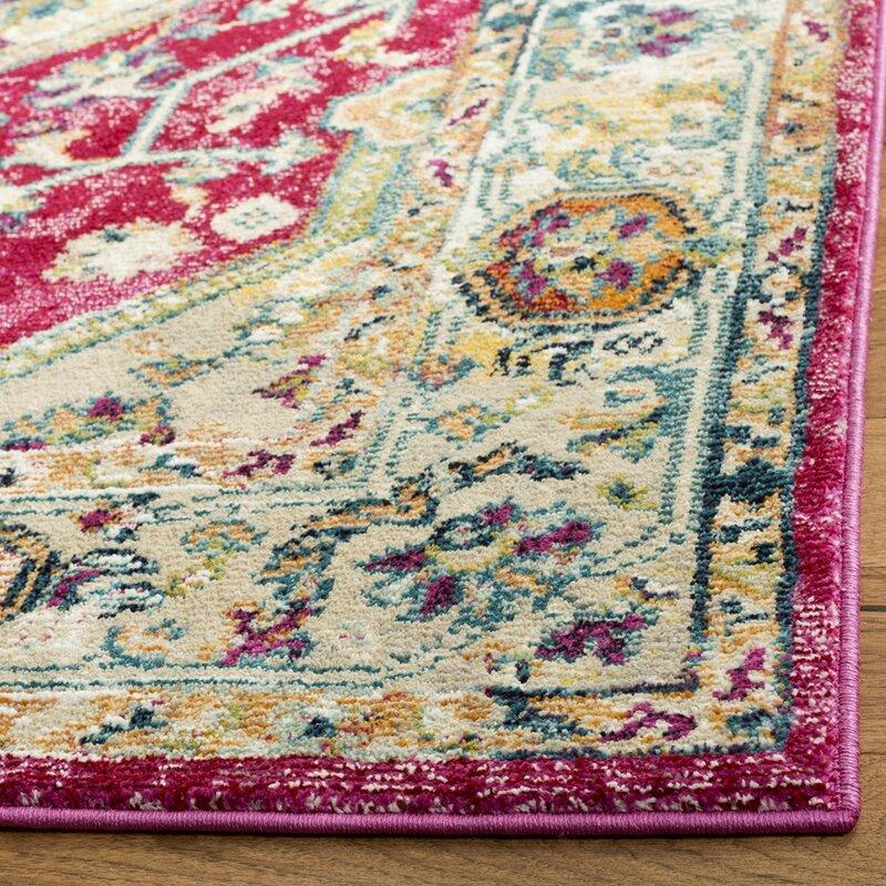 Newmarket Violet Red Rug Wayfair Co Uk