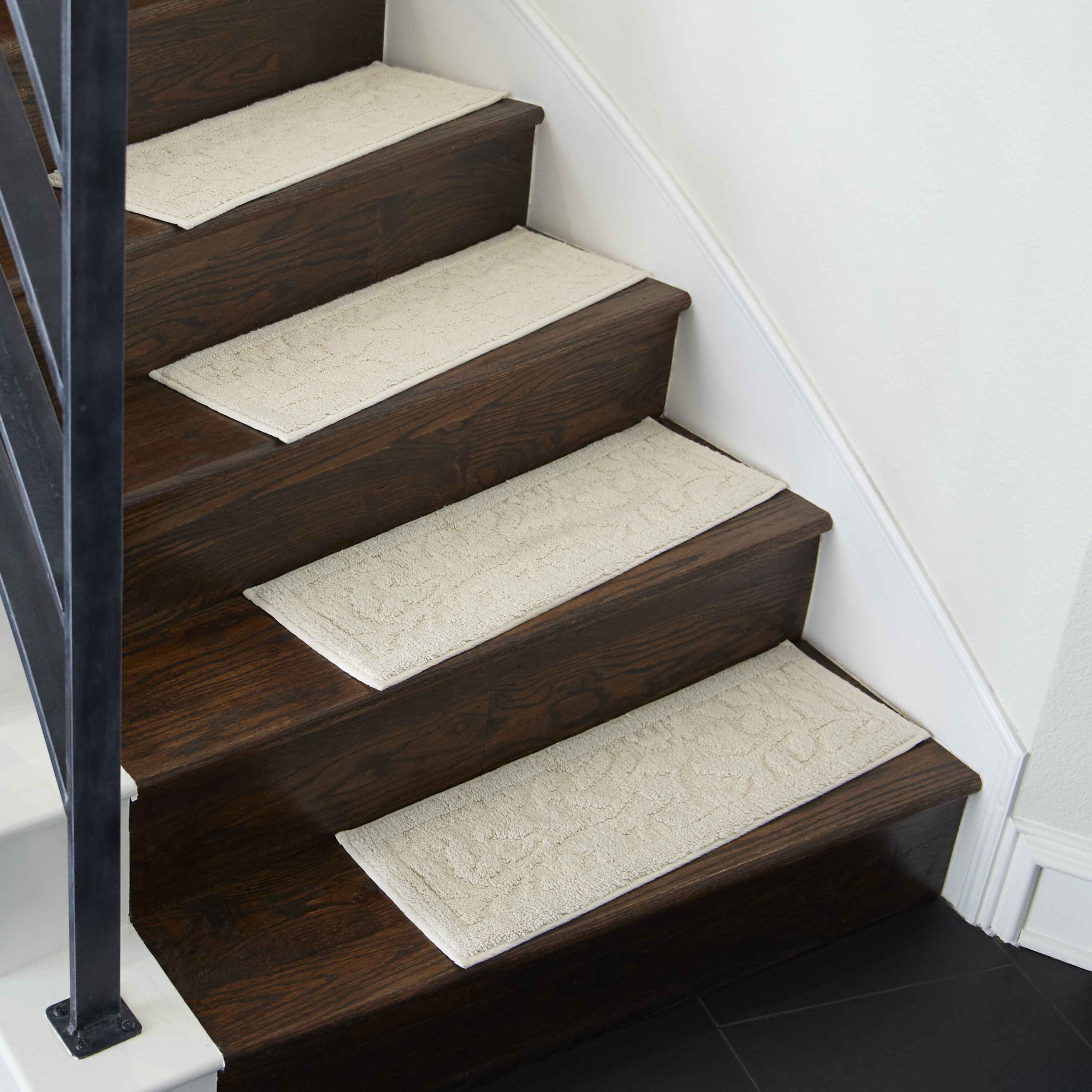 Darby Home Co Jeanette Accent Rug Natural White Stair Tread