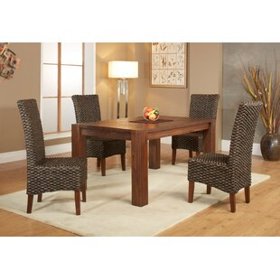 Gibson 5 Piece Extendable Solid Wood Dining Set Loon Peak