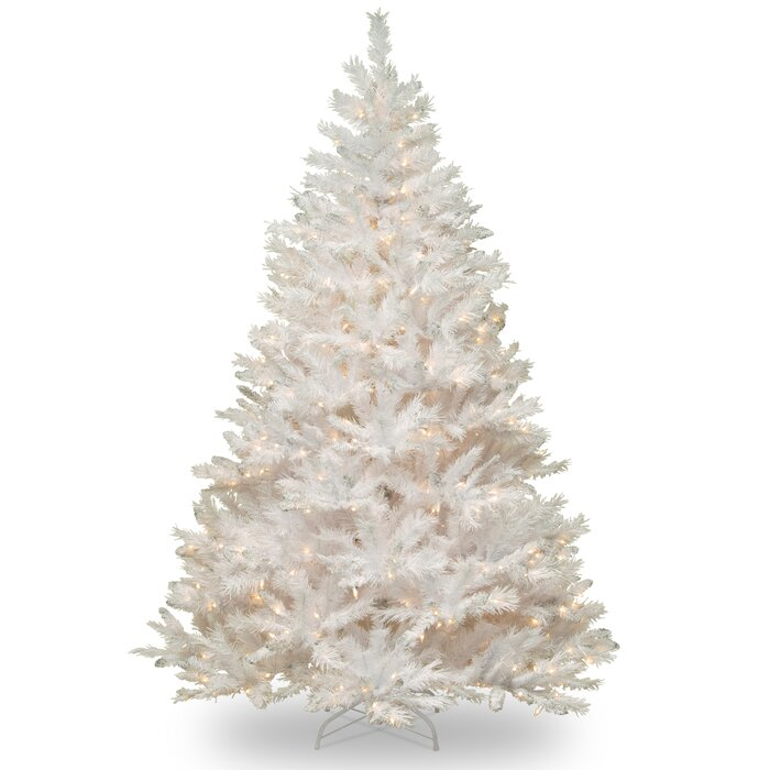 White Pine Artificial Christmas Tree With 450 Clear White Lights