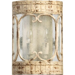 Compare prices Guyette 2-Light Wall Sconce By Lark Manor