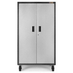 Ready To Assemble 66 H X 36 W 18 D Steel Rolling Garage Cabinet In Silver Tread