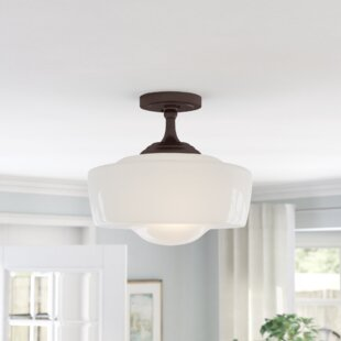 Derouen 1-Light Semi-Flush Mount by Latitude Run