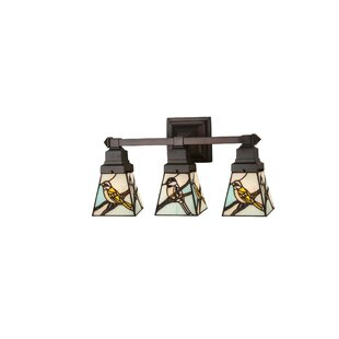 Affordable Early Morning Visitors 3-Light Vanity Light By Meyda Tiffany