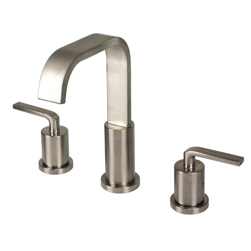 Luxier Contemporary Widespread Handle Bathroom Faucet