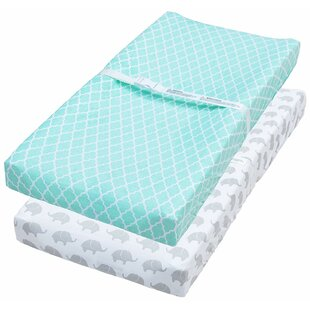 Check Prices Saravia Changing Pad Cover (Set of 2) By Harriet Bee