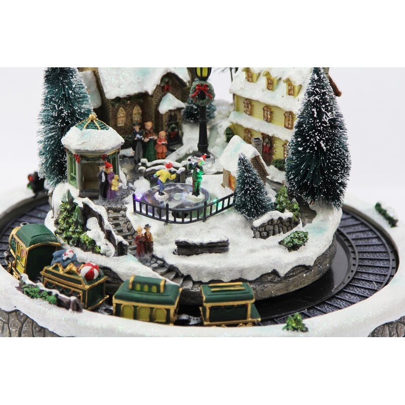 village and moving train - Moving Christmas Decorations
