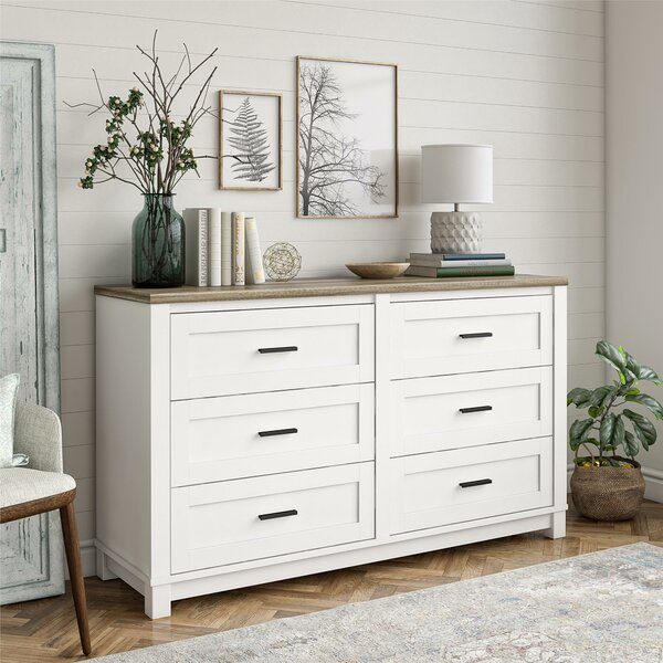Marcos 6 Drawer Double Dresser by Laurel Foundry Modern Farmhouse