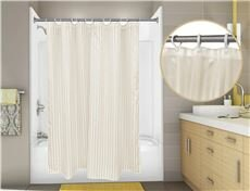 Tuxedo Stripe Single Shower Curtain