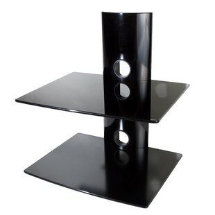 Dual Glass DVD/DVR/Component Wall Mount Shelf by Mount-it Fresh