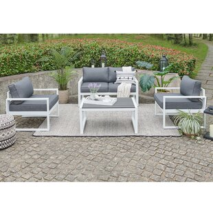 Hanna 4 Piece Sofa Seating Group with Cushions