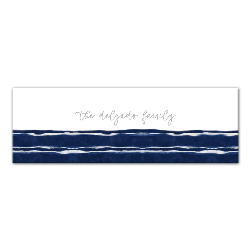 Breakwater Bay Indigo Abstract Stripes Wrapped Canvas Painting Print Wayfair