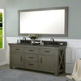 Sean 72 Double Bathroom Vanity Set by Laurel Foundry Modern Farmhouse
