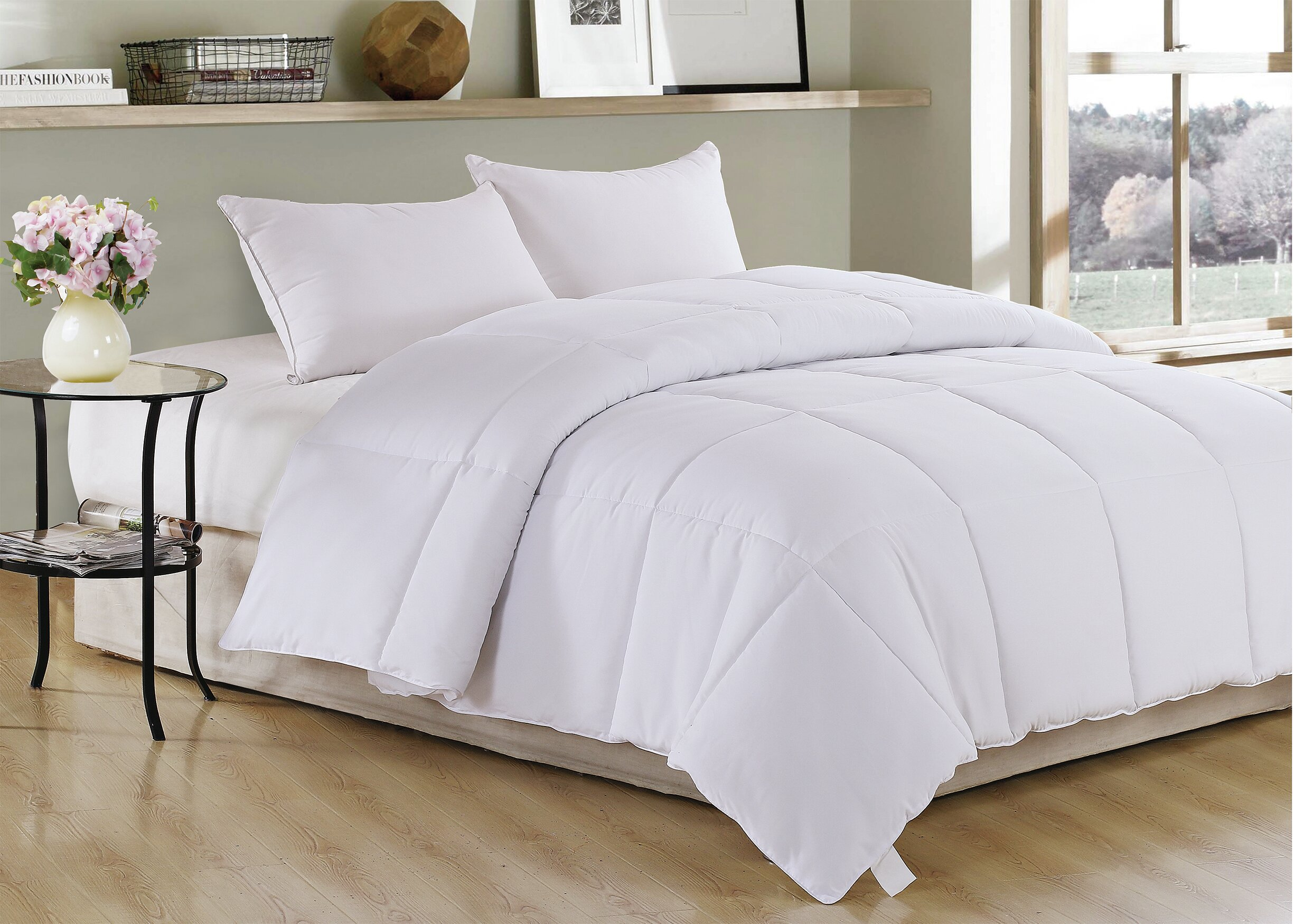 for hypoallergenic reversible medium comforter amrapur itm home ultra microfiber goose classics overseas duvet bedding quilted down soft warmth alternative insert all