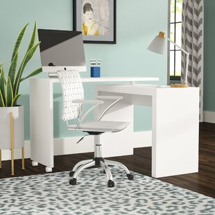 Althea Solid Wood L-Shape Writing Desk by Ebern Designs